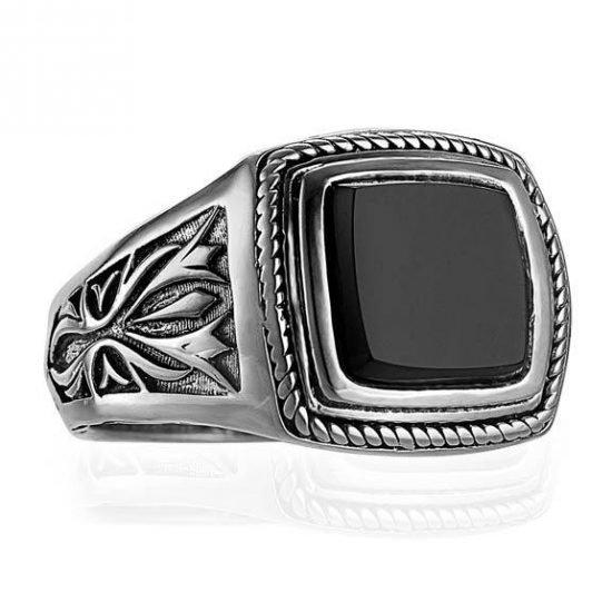 Amazoncom black onyx ring for men
